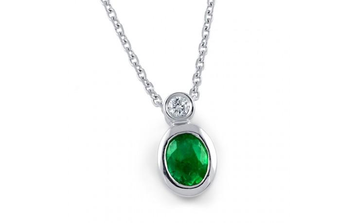 Bezel Set Emerald Pendant product image 1