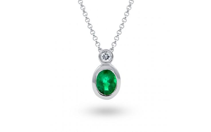 Bezel Set Emerald Pendant product image 2