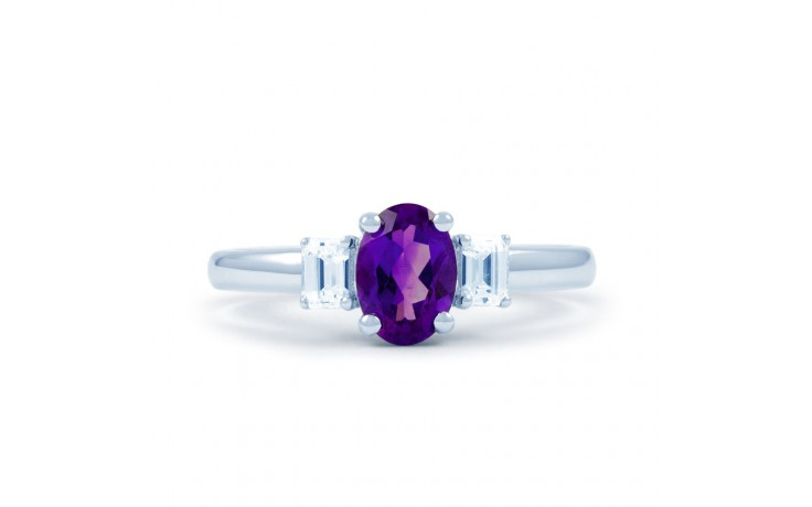 Amethyst & Diamond Oval Ring product image 1