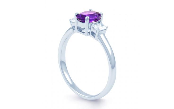 Amethyst & Diamond Oval Ring product image 2
