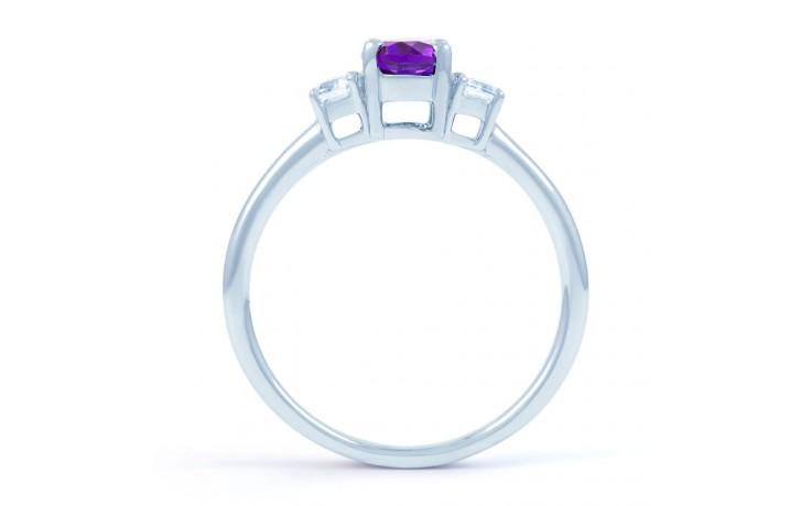 Amethyst & Diamond Oval Ring product image 3