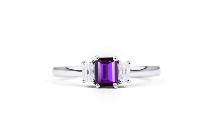 Amethyst Emerald White Gold Ring product image 1