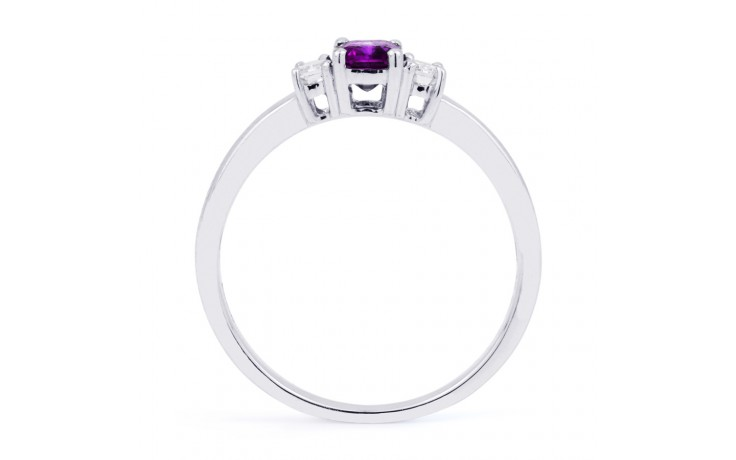 Amethyst Emerald White Gold Ring product image 3