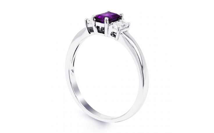 Amethyst Emerald White Gold Ring product image 2