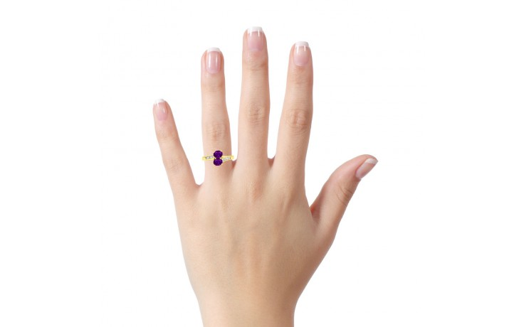 Amethyst Crossover Gold Ring product image 4