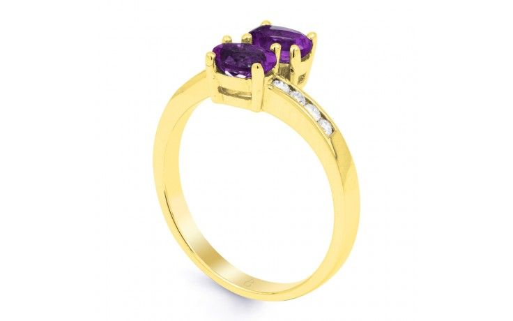 Amethyst Crossover Gold Ring product image 2