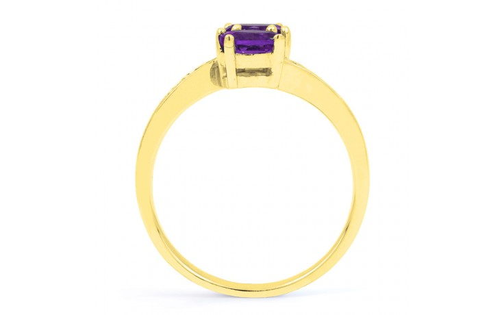 Amethyst Crossover Gold Ring product image 3