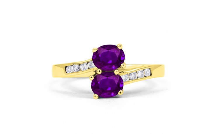 Amethyst Crossover Gold Ring product image 1