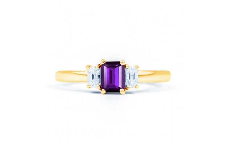 Amethyst Emerald Gold Ring product image 1
