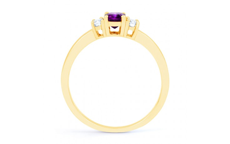 Amethyst Emerald Gold Ring product image 3