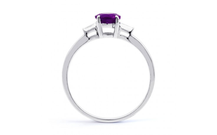 Round Amethyst White Gold Ring product image 3