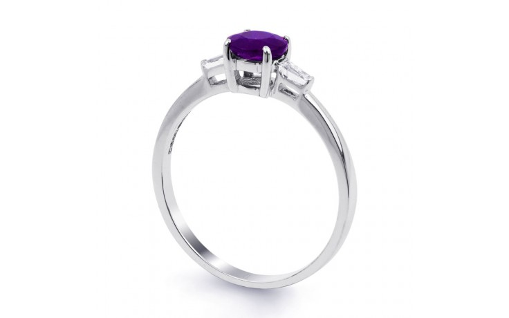 Round Amethyst White Gold Ring product image 2