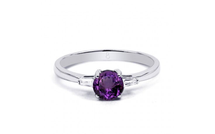 Round Amethyst White Gold Ring product image 1