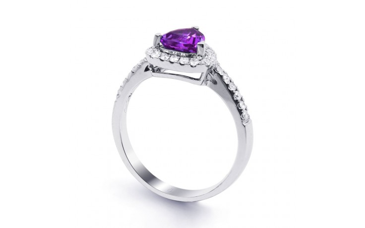 Amethyst Trillion Ring product image 2