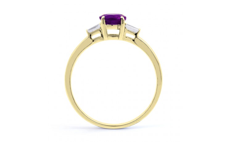 Round Amethyst Yellow Gold Ring  product image 3