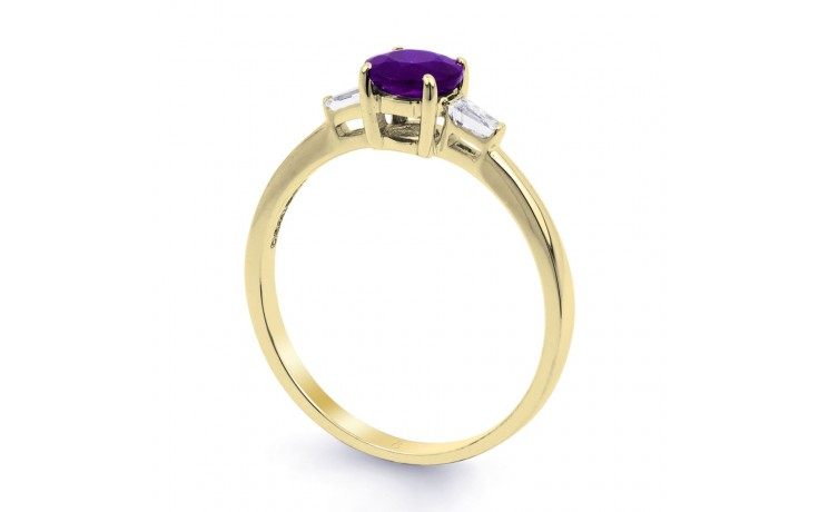 Round Amethyst Yellow Gold Ring  product image 2