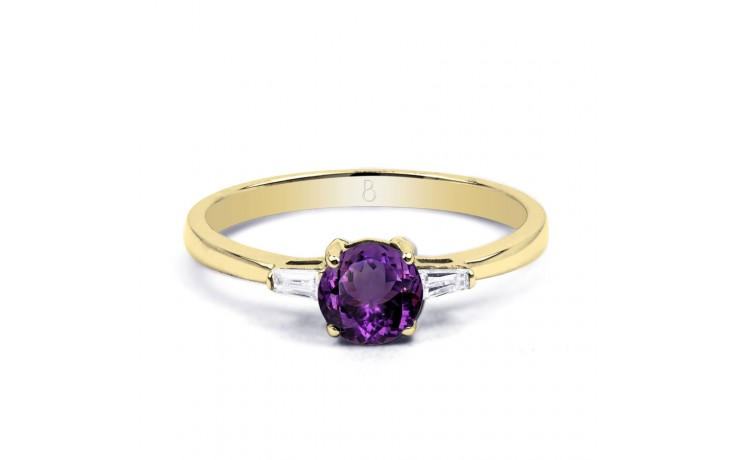 Round Amethyst Yellow Gold Ring  product image 1