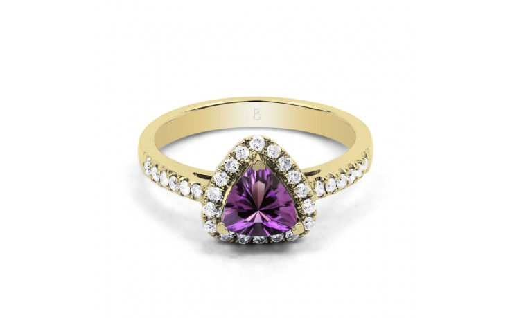 Amethyst Trillion Gold Ring product image 1