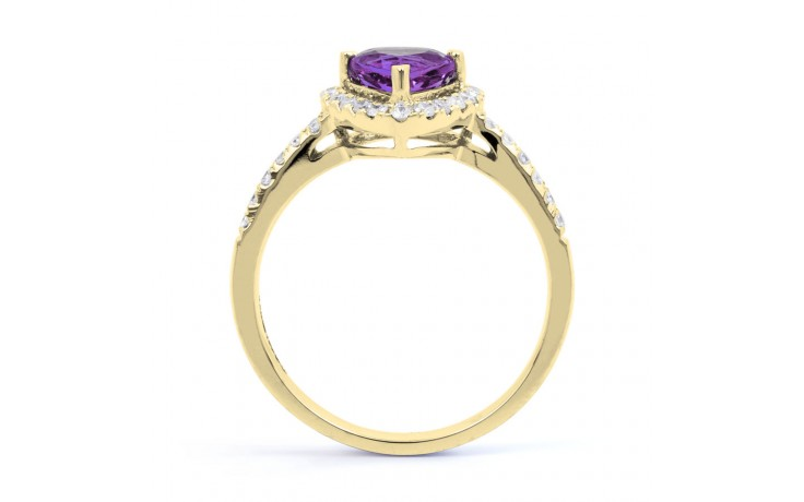 Amethyst Trillion Gold Ring product image 3
