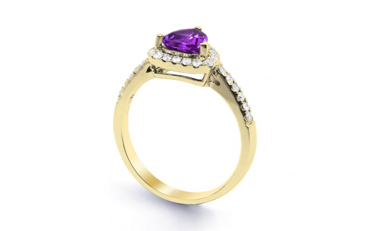 Amethyst Trillion Gold Ring product image 2