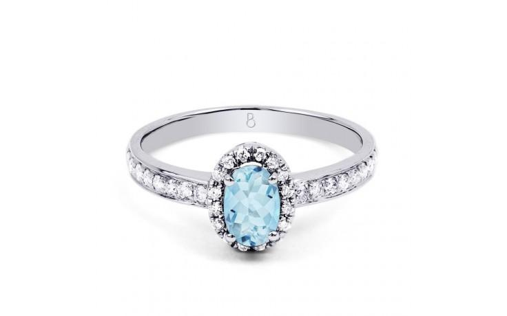Allure Aquamarine Ring In White Gold product image 1