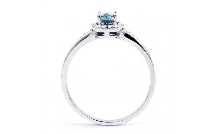 Allure Aquamarine Ring In White Gold product image 3