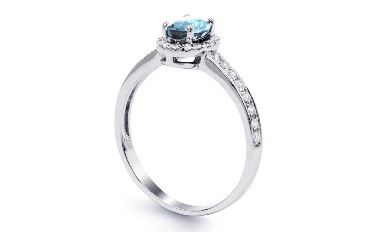 Allure Aquamarine Ring In White Gold product image 2