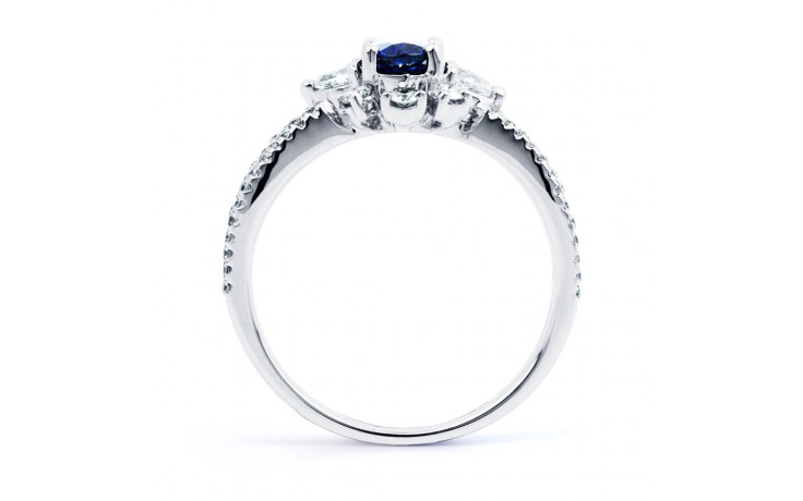 Floral Pave Blue Sapphire Ring product image 3
