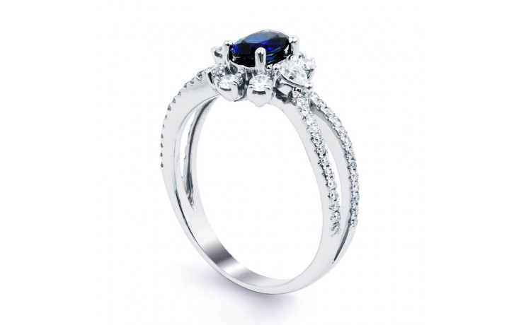 Floral Pave Blue Sapphire Ring product image 2