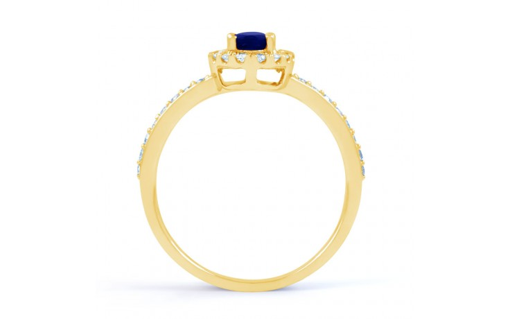 Allure Blue Sapphire Gold Ring product image 3