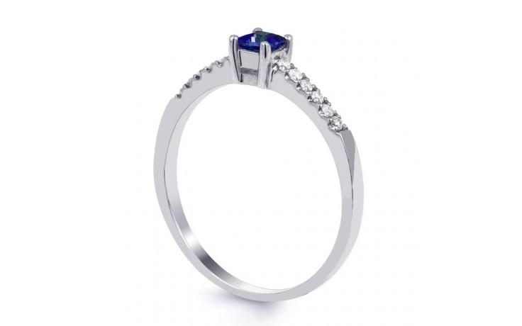 9ct White Gold Blue Sapphire & Diamond Engagement Ring Princess product image 2