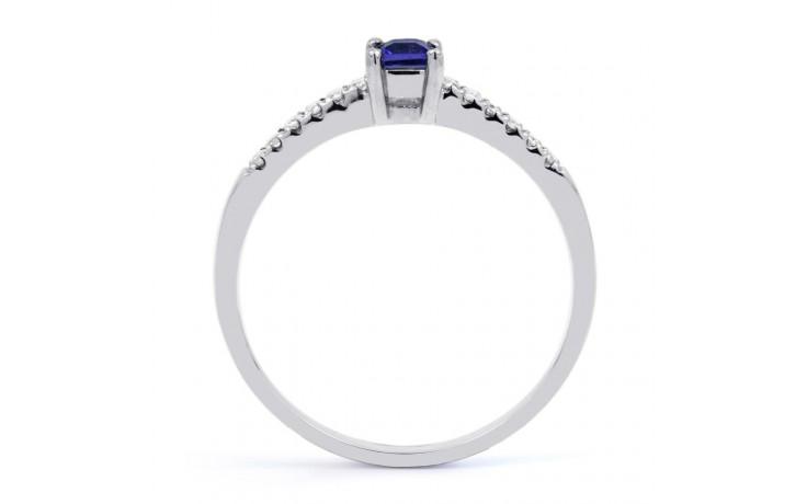 9ct White Gold Blue Sapphire & Diamond Engagement Ring Princess product image 3