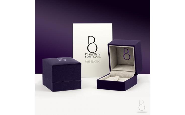 9ct White Gold Blue Sapphire & Diamond Engagement Ring Princess product image 4