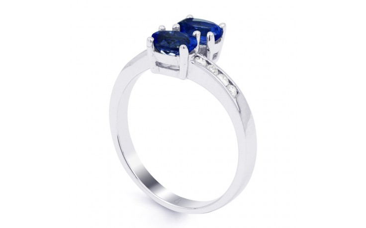 Blue Sapphire Crossover Ring product image 2
