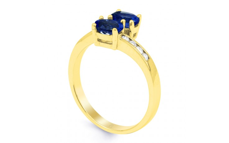 Blue Sapphire Gold Crossover Ring product image 2