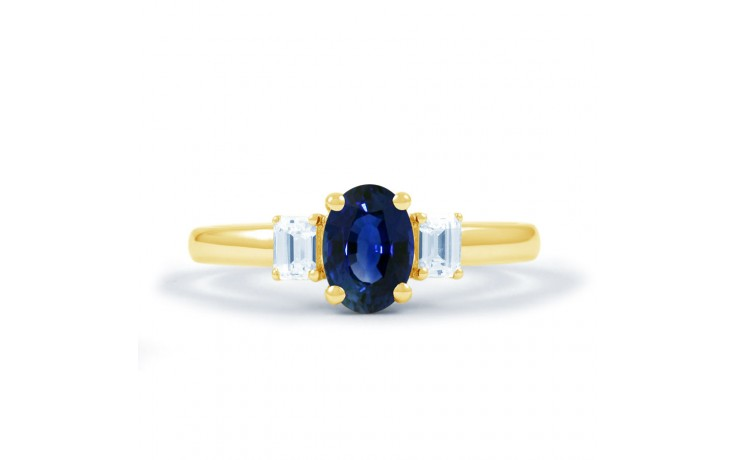 Octagon Sapphire Gold Ring product image 1
