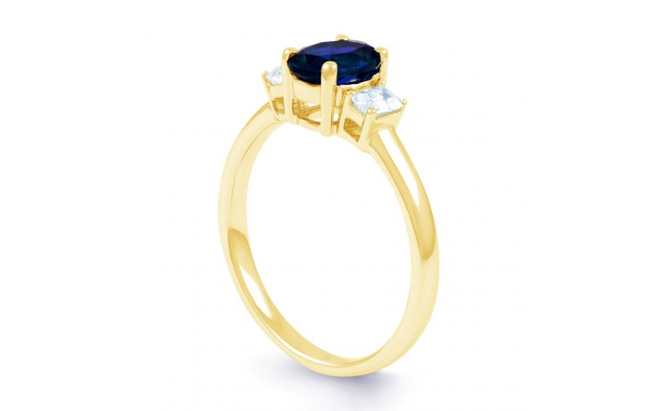 Octagon Sapphire Gold Ring product image 2