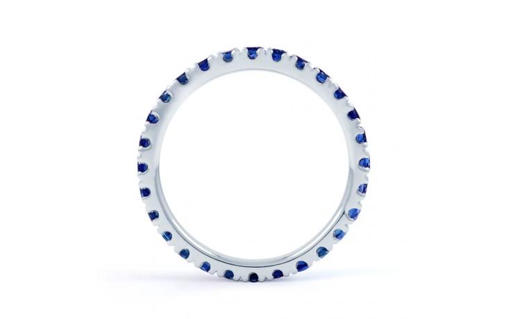 18ct White Gold Blue Sapphire Gemstone Eternity Band 2.2mm product image 3