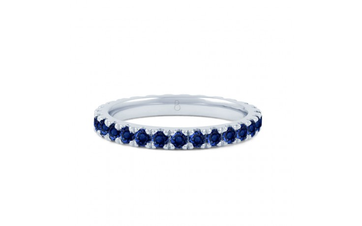 18ct White Gold Blue Sapphire Gemstone Eternity Band 2.2mm product image 1