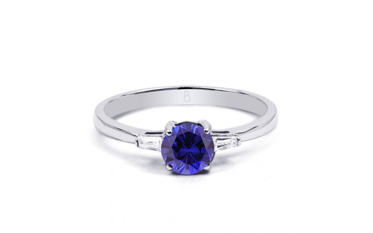 Round Blue Sapphire Ring product image 1