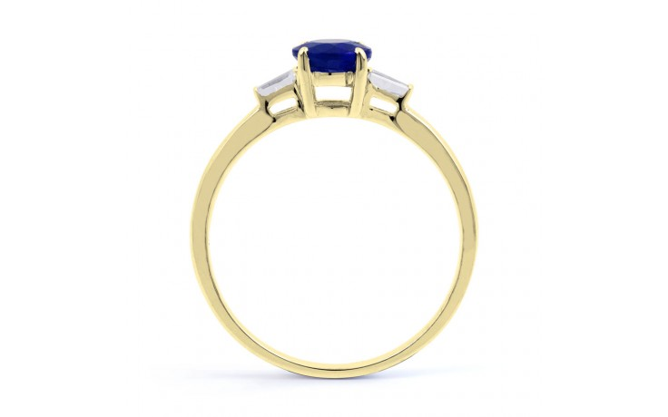 Round Blue Sapphire Gold Ring product image 3