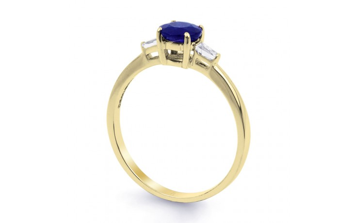 Round Blue Sapphire Gold Ring product image 2