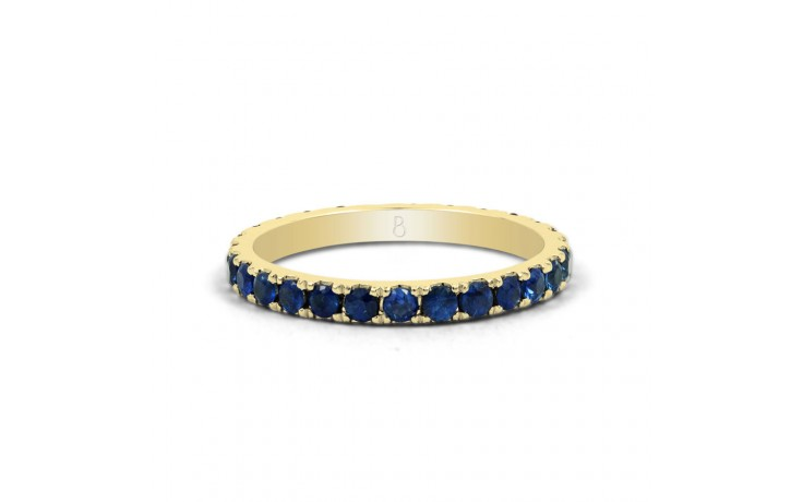 18ct Yellow Gold Blue Sapphire Gemstone Eternity Band 2.2mm product image 1