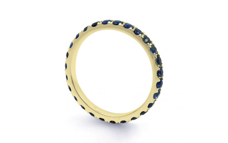 18ct Yellow Gold Blue Sapphire Gemstone Eternity Band 2.2mm product image 2