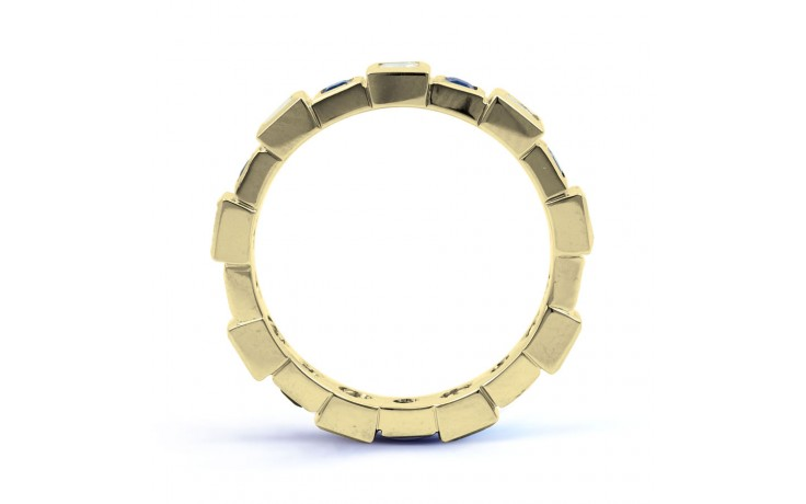 18ct Yellow Gold Blue Sapphire & Diamond Designer Full Eternity Ring 0.75ct 5mm product image 3