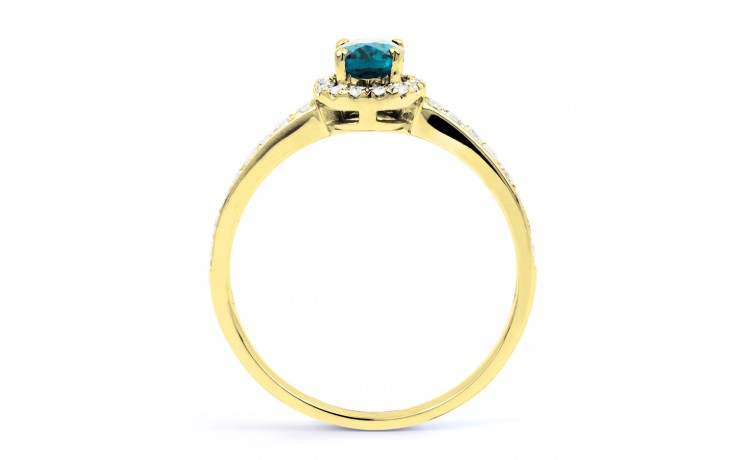 Allure Blue Topaz Gold Ring product image 3