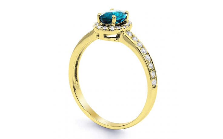 Allure Blue Topaz Gold Ring product image 2