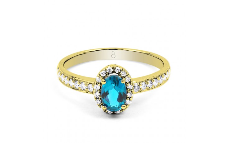 Allure Blue Topaz Gold Ring product image 1