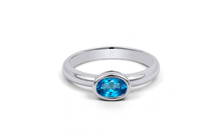 Blue Topaz Birthstone Ring  product image 1