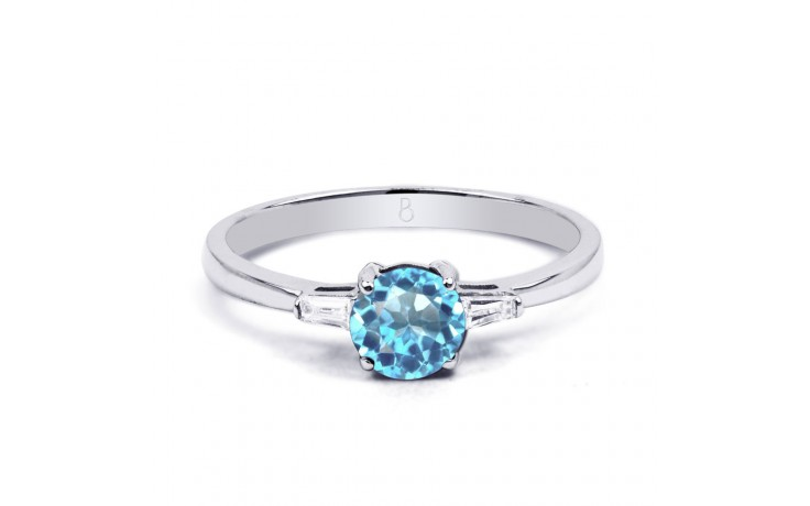 Blue Topaz & Diamond Ring product image 1